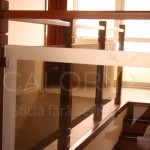 balustrada sticla si lemn