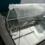 vitrina frigorifica din sticla curbata
