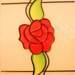 vitralii motiv floral